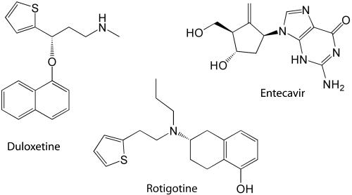 Duloxetine, Rotigotine, Entecavir